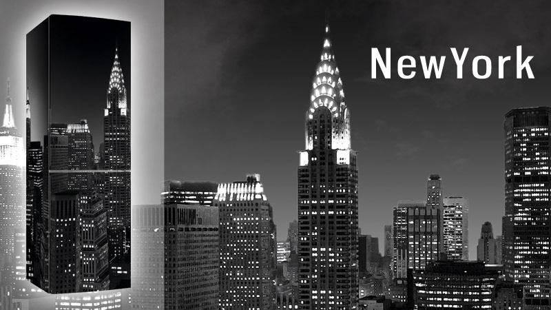 frigorifero con stampa New York
